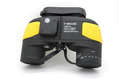 Tmouse Marine 7x50 Waterproof Floating Binocular,Internal Rangefinder,Yellow by Tmouse
