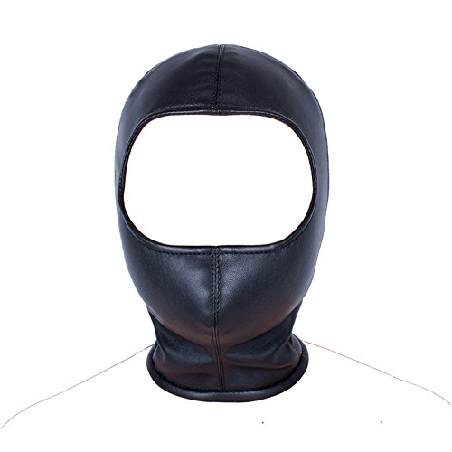 New Hood Mask Sex Products for Women,Soft PU Leather Hoods Open Eye Mask Customized Head Harness Bondage Restraint Sex Products by Wwenhhip