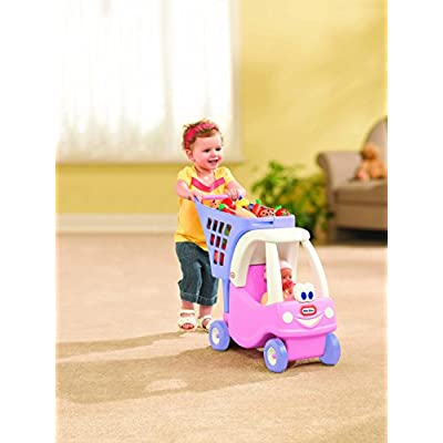 Little Tikes Cozy Shopping Cart Pink/Purple: Toys & Games