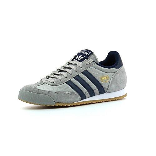 adidas Originals Dragon Herren Sneakers Multicolore (Gris / Azul Marino / Dorado (Grpumg / Maruni / Dormet))