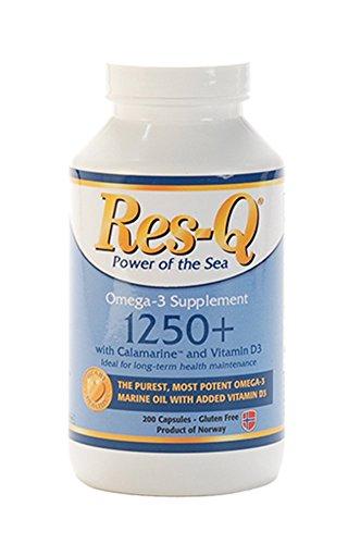 200 Fish - Res-Q 1250+ Omega-3 & Vitamin D3 Fish Oil 200 Capsules