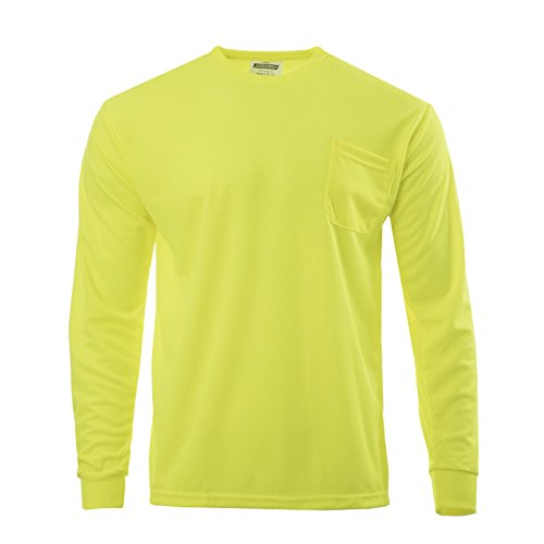 - JORESTECH High Visibility T-Shirt with Pocket Long Sleeve (Large, Lime)