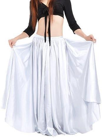 QWG Dancewear falda de danza del vientre de raso para mujer (más ...