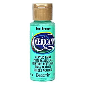 DecoArt DA256-3 Americana Acrylic Paint, 2-Ounce, Sea Breeze