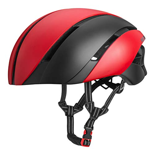 ROCK BROS Aero Bike Helmet Cycling Helmet TT Road Bike Helmet for Women Men Bicycle for Road Bike (Best Aero Tt Helmet)