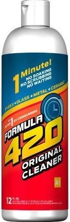 Original Cleaner by Formula 420 | Glass Cleaner | Cleaner Pack | Safe on Glass, Metal, Ceramic, and Pyrex | Cleaner - Assorted Sizes (12 oz - Single) (Formula 420 Glass)