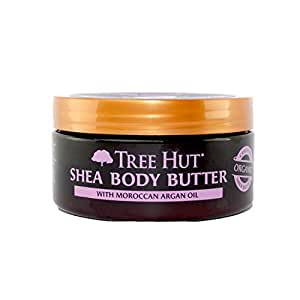 Tree Hut 24 Hour Intense Hydrating Shea Body Butter, Moroccan Rose, 7 Ounce