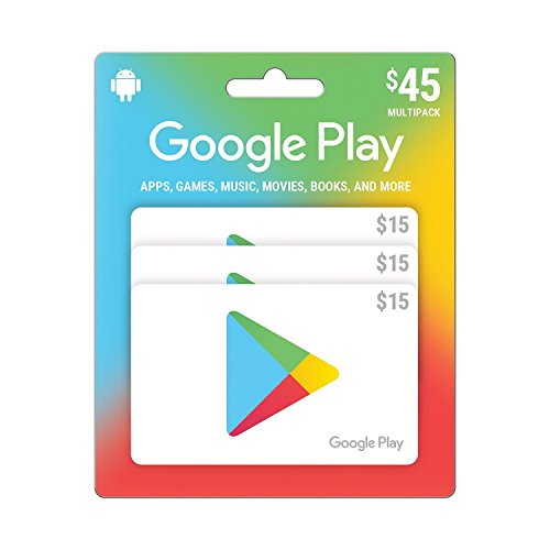 Google Play $45 Prepaid Gift Card - 3 x $15 (Physical Card) by GooglePlay