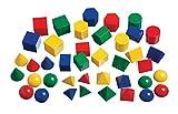 Mini Geometric Solids - Set of 40 - Multicolored 3D Shapes