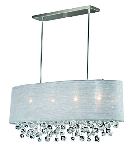 Chrome Oval Pendant - Pendant Chrome Oval Translucent Chandelier Ceiling Fixture 4 Light Lamp 36