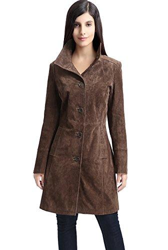 - BGSD Women's Aubrey Suede Leather Walking Coat - XL
