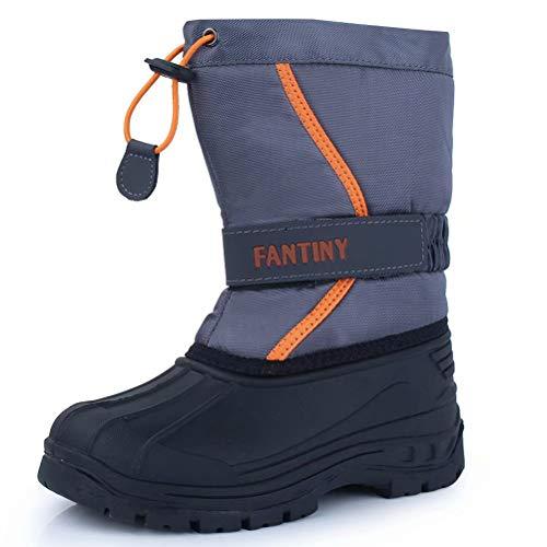 - CIOR Fantiny Snow Boots Winter Outdoor Waterproof with Fur Lined for Girls & Boys (Toddler/Little Kid/Big Kid) U118WXZ010,grayorange,32