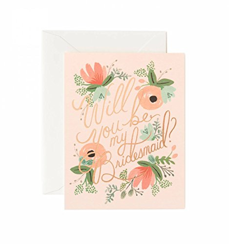 Rifle Paper Co Will You Be My Bridesmaid Card (Pack of 8, Blush)
