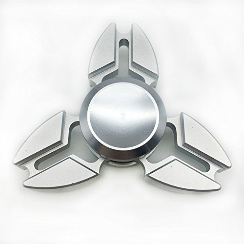 Price comparison product image Tri-Spinner Fidgets Toy Metal EDC Sensory Fidget Spinner Hands Ceramic bearing Kids/Adult Funny Anti Stress Toys Gift (Fidget Spinner, C&Silver)