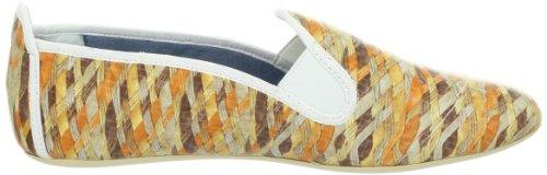 Dimmi Stretch Femmes Orange Cuir Chaussures décontractées Pointure