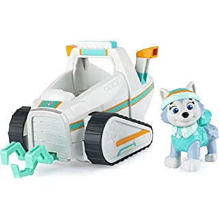 Paw Patrol 6056856 Everest's Snow Plough Vehicle with Collectible Figure, for Kids Aged 3 and Up, Multicoloured