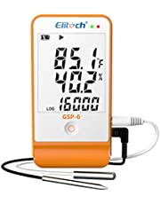 Elitech GSP-6 Temperature and Humidity Data Logger Recorder 16000 Points Refrigeration DDL Temperature Recorder Cold Chain
