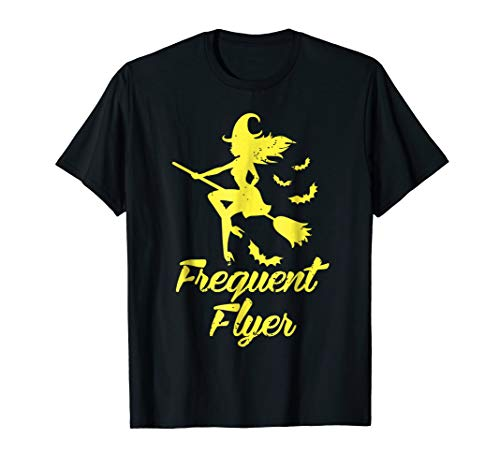 Frequent Flyer Tshirt - Flying Halloween 2018 Sexy Witch Tee