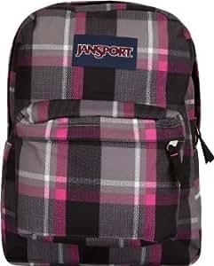 Jansport Backpack Superbreak New Storm Grey Duke Plaid Pink Black White for School Work or Play