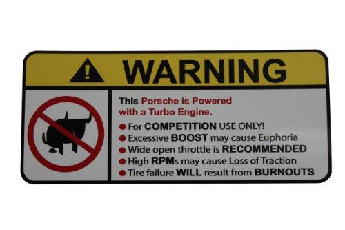Techart 996 Turbo (Porsche Turbo No Bull, Warning decal, sticker)