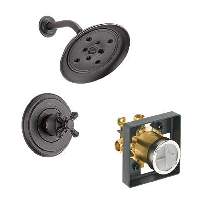 Delta Delta KSDCA-T14297-H795-RB Cassidy Shower Kit Pressure-Balance Single-Function Cartridge with Metal Cross Handle, Venetian Bronze Venetian Bronze