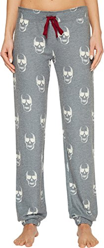 PJ Salvage Women's Love You To Death Skull Jogger Pant, Charcoal, S Salvage Womens Pajama