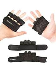 NH Weight-Lifting Workout Fitness Gloves | Callus-Guard Gym Barehand Grips | Support Cross-Training, Rowing, Power-Lifting, Pull Up for Men & Women