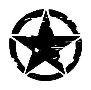 Amazon Com Jeep Distressed Military Willys Star Vinyl