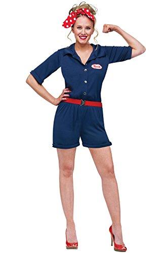 Fun World Women's M/l Rosie The Riveter Adlt, Multi, Medium/Large ()
