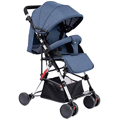 $184.38 Target Infant Car Seats Heay Strollers Lightweight Umbrella Stroller Bassinet Pram Baby Carriage with Infant Pram Backrest All Terrain City Select Pushchair Compact Convertible Buggy (Color : Blue) 2019