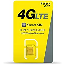 H2o H20 Wireless Micro / Mini SIM Card for Any Unlocked GSM Phone w/ $30 Plan Unlimited Talk, Text. 500 Mb Web, $10 International Calling