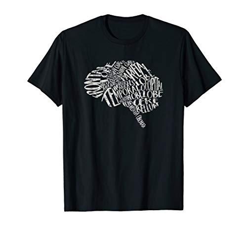 Brain Typography Tshirt RN Neuroscience Nurse - Brain T-shirt Womens