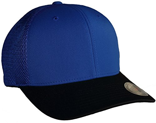 Flexfit 6533 Ultrafibre & Airmesh Fitted Cap (Large/X-Large, Royal/Black)