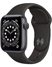 AppleWatch Series6 (GPS) • 40mm aluminiumboett rymdgrå • sportband svart – standard