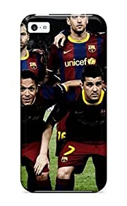 First-class Case Cover For Iphone 5c Dual Protection Cover Amazing Barcelona Fc Team Football Sports