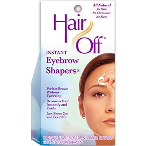 Hair Off Shapers Eyebrow - HairOff Instant Eyebrow Shapers 18 Each (Pack of 2)