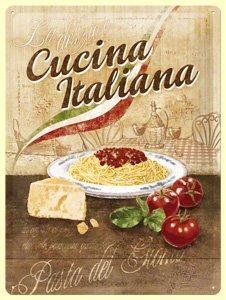 Schön Blechschild Pasta Metallschild Italienische Küche 30 X 40 Cm