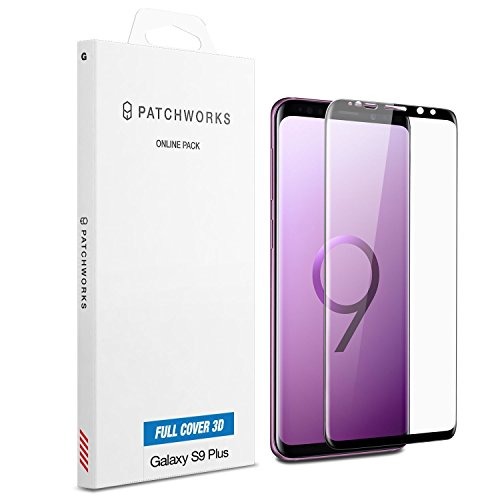 Samsung Galaxy S9 Plus Screen Protector, Patchworks ITG Full Cover 9H Hardness Oleophobic Coated Anti-Scratch Anti-Fingerprint Glass from Japan Tempered Glass Screen Protector for Galaxy S9 Plus
