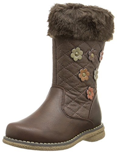 Rachel Shoes Derby Lined Floral Boot (Toddler/Little Kid), Brown/Multi, 8 M US Toddler (Toddler Brown Multi Footwear)