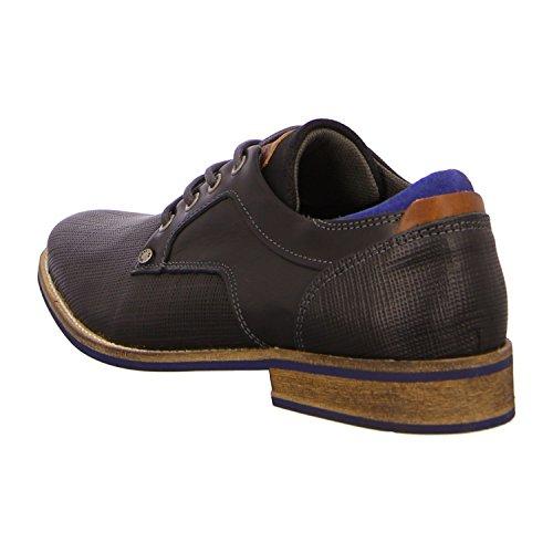 BULLBOXER 571K25283BSABK - Zapatos de cordones de Piel para hombre Negro - black (2495)