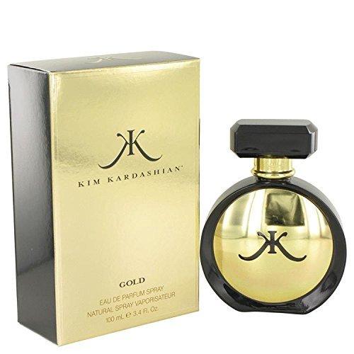 Kim Kardashian Gold by Kim Kardashian Eau De Parfum Spray 3.4 oz for Women - 100% Authentic - Kim Kardashian Gold Perfume