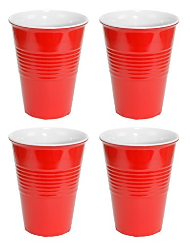 Fairly Odd Novelties Red Hard Plastic Cup 20oz - 4 Pack