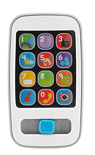 Fisher-Price Laugh & Learn Smart Phone, White (Toy Cell Phone For 1 Year Old)