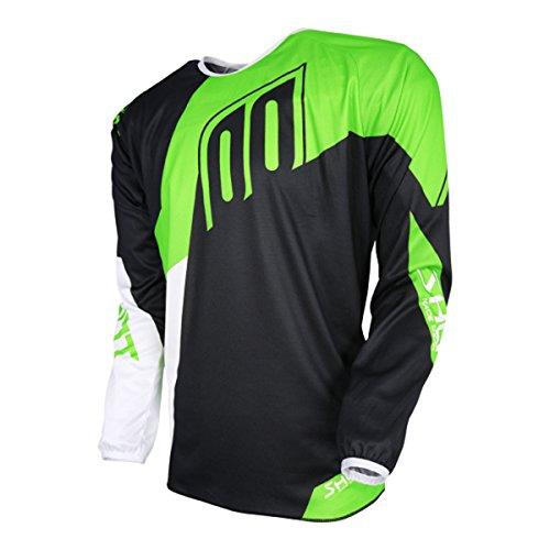 Jerseys Neon Green - SHOT Mens Alert Off-Road Motorcycle Jersey Neon Green/Black Medium