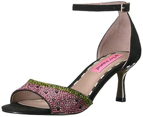 - Betsey Johnson Women's Tavie Heeled Sandal, Black Multi, 7 M US