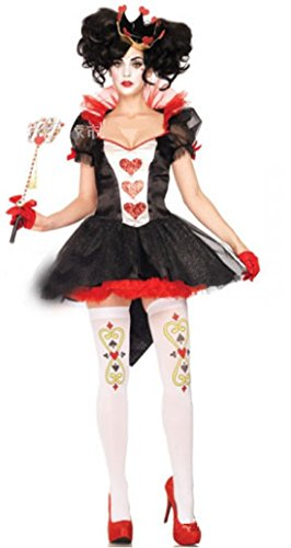 ShonanCos Royal Hearts Queen Style Costume (Queen Of Hearts Halloween Costume Party City)