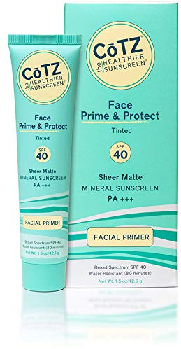 CoTZ FACE Natural Tint SPF 40 Mineral Sunscreen (Pack of 2) With Zinc Oxide, Titanium Dioxide and Iron Oxide, For Acne-Prone, Oily, Normal, Dry, Combination, Sensitive or Mature Skin, 1.5 oz.