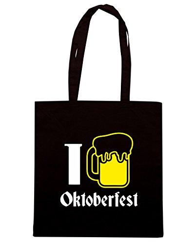 T-Shirtshock - Bolsa para la compra BEER0127 I Love Oktoberfest Beer Negro