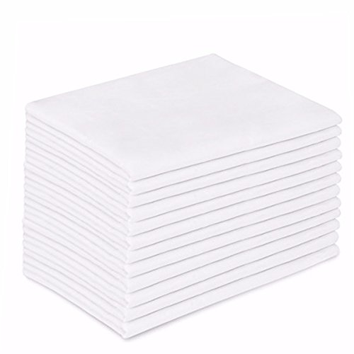 Great Features Of 12 Standard/Queen White Pillowcases - Set of Dozen Soft Double-Stitched Pillow Cas...
