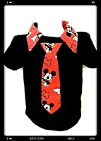 Mickey mouse boys Polo personalized Shirt Toddler boy's necktie shirt baby size 24 M, 2 T, 3T,4T,5T.6-7 Yrs